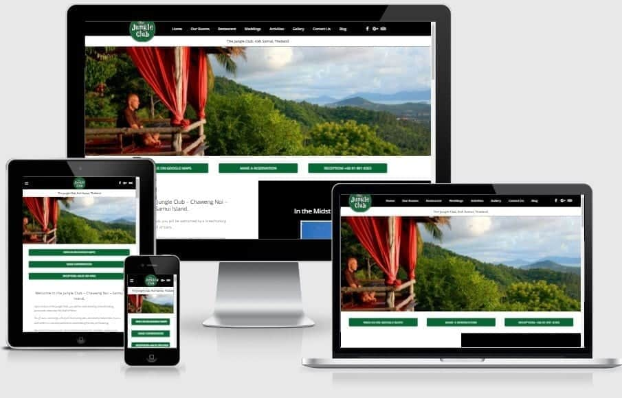 Web Design - The Jungle Club Samui