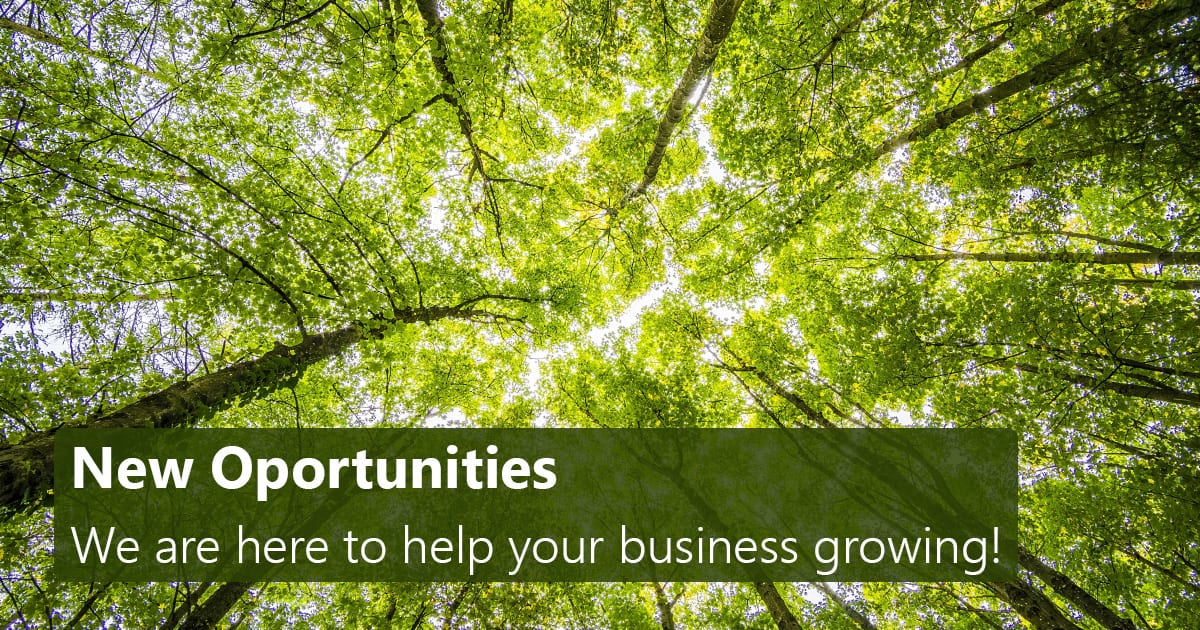 New Opportunities - We are here to help your business growing!