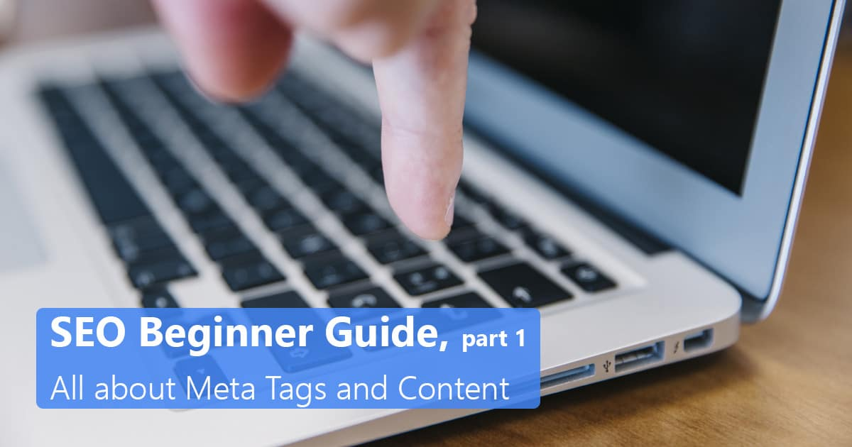 SEO Beginner Guide, Part 1, all about Meta Tags and Content